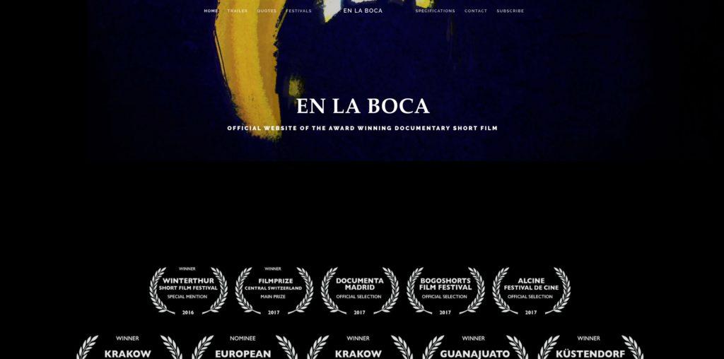 Die offizielle Webseite vom Fillm En La Boca